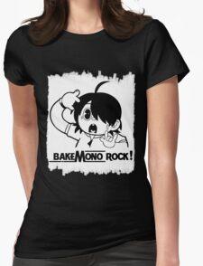 Araragi Koyomi Bakemonogatari Bakemono Rock! Womens Fitted T-Shirt