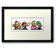 Donkey Kong Mario Peach and Luigi Framed Print