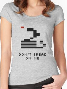 Don't Tread on Me...Pitfall!-style Women's Fitted Scoop T-Shirt