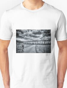 Digswell Viaduct Cyclist Unisex T-Shirt