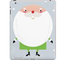 Simple stylized Santa on snowing christmas iPad Case/Skin