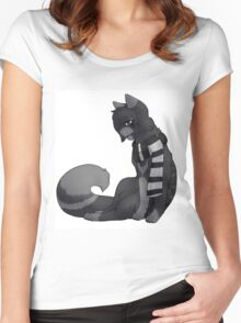 EMO- Cursed Cat Women's Fitted Scoop T-Shirt