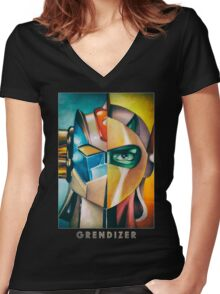 Grendizer Ufo Robot Women's Fitted V-Neck T-Shirt