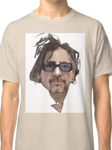 Tim Burton portrait digital illustration Classic T-Shirt