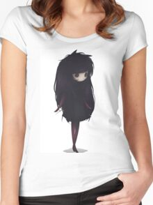 EMO- Korean Fashion Style Women's Fitted Scoop T-Shirt