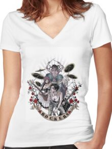 EMO- Rockers Women's Fitted V-Neck T-Shirt