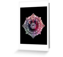 Mandala Color - black Greeting Card