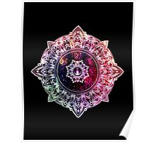 Mandala Color - black Poster