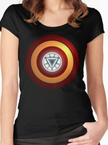 Stark Arc & Shield Women's Fitted Scoop T-Shirt