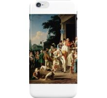 The County Election, by George Caleb Bingham,  iPhone Case/Skin