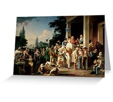 The County Election, by George Caleb Bingham,  Greeting Card