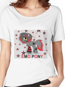 EMO- Pony Women's Relaxed Fit T-Shirt