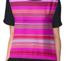 Pink Stripes Chiffon Top