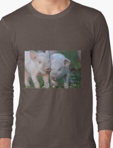 Cute Piglets Poster for Vegans/Vegetarians Long Sleeve T-Shirt