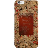 Charlotte Bronte Poems Vintage Book Cover iPhone Case/Skin