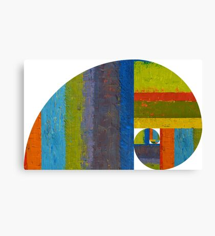 Golden Spiral Study Canvas Print
