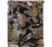Brown marbling and sequins iPad Case/Skin