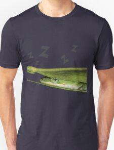Silly Cute Cool Adorable Fun Sleepy Green Anole Lizard  Unisex T-Shirt
