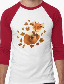 Playful Fox Men's Baseball ¾ T-Shirt