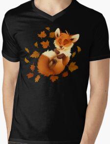 Playful Fox Mens V-Neck T-Shirt