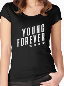 Young Forever BTS Women's Fitted Scoop T-Shirt