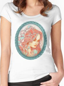 Filigree Face Women's Fitted Scoop T-Shirt