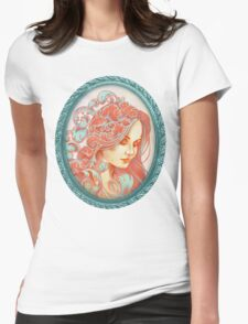 Filigree Face Womens Fitted T-Shirt