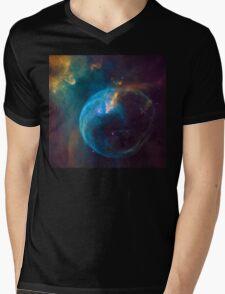 Outer Space Bubble Nebula space exploration Mens V-Neck T-Shirt