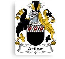 Arthur Coat of Arms / Arthur Family Crest Canvas Print