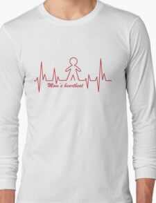 Mom's Heartbeat for her boy Long Sleeve T-Shirt