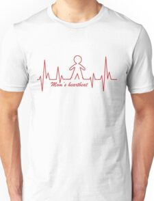 Mom's Heartbeat for her boy Unisex T-Shirt