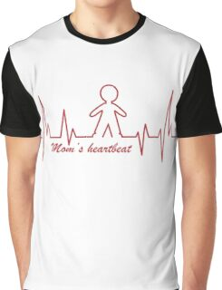 Mom's Heartbeat for her boy Graphic T-Shirt
