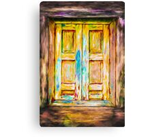 Tuscany Shutters Canvas Print