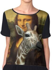 Mona Lisa Loves Giraffes Chiffon Top