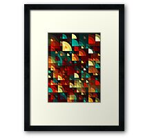 Abstract Fish Scales  Framed Print