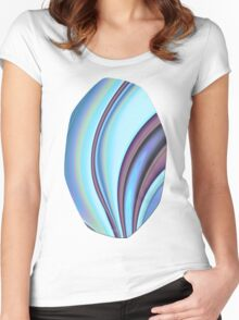 Abstract Fractal Colorways 02PrBl Women's Fitted Scoop T-Shirt