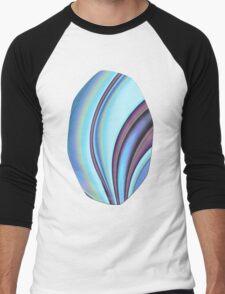Abstract Fractal Colorways 02PrBl Men's Baseball ¾ T-Shirt