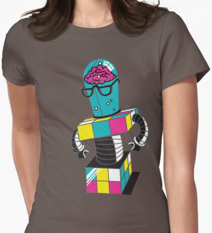 CubeBot Womens Fitted T-Shirt