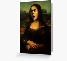 Mona Medusa  Greeting Card