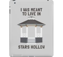 I was meant to live in Stars Hollow (clear background) iPad Case/Skin
