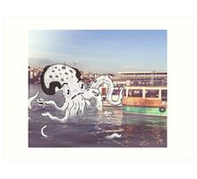 Imaginary Octo-Friend by Kale Atterberry Art Print