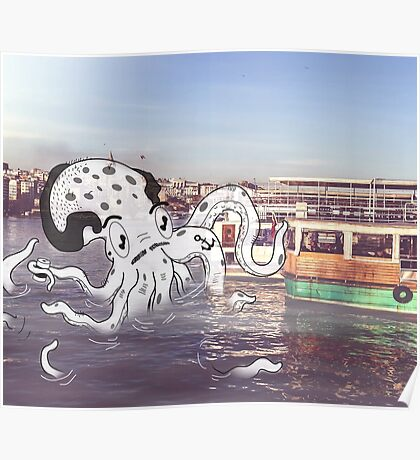 Imaginary Octo-Friend by Kale Atterberry Poster