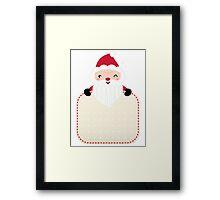 Retro Santa greeting card template Framed Print