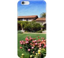 """Mission San Juan Capistrano - Across the Courtyard"" iPhone Case/Skin"