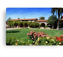 """Mission San Juan Capistrano - Across the Courtyard"" Canvas Print"