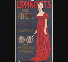 Artist Posters Lippincott's for April contains a complete novel entitled Flotsam by Owen Hall also The Washingtons in Virginia by Anne H Wharten finely illustrated JJ Gould Jr 0559 Unisex T-Shirt