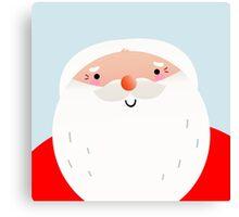Happy Santa Claus face { Just Perfect Xmas Gift } Canvas Print