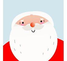 Happy Santa Claus face { Just Perfect Xmas Gift } Photographic Print