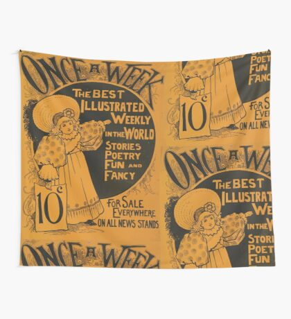 Artist Posters Once a week the best illustrated weekly in the world 0751 Wall Tapestry