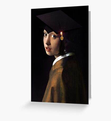 Girl with the Graduation Cap Greeting Card